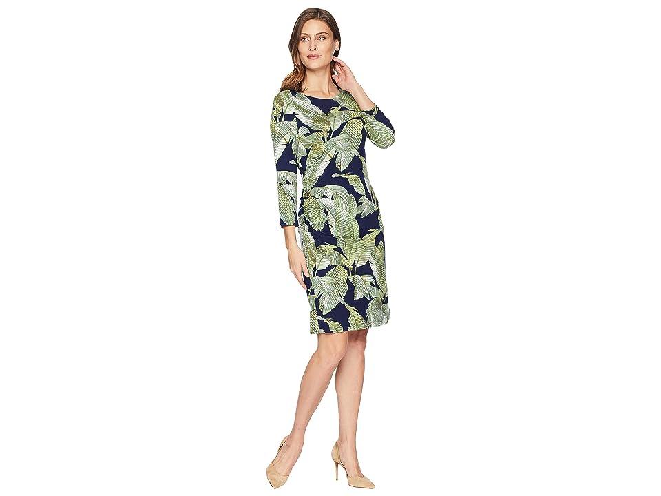 Tommy Bahama Fiesta Palms Shirred Dress (Ocean Deep) Women