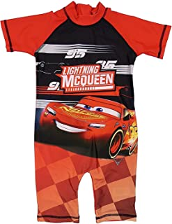 (18 - 24 Months, Lightening Mcqueen) - Boys Character All In One Surf Suit Good Coverage From UV Rays 1.5y To 4-5y