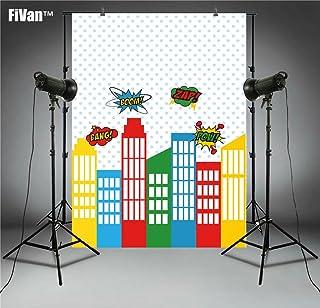 Super Hero City Hintergrund für Baby Kids Birthday Party Fotografie Bilder Wand Decor Vinyl Hintergrund Photo Booth 2018/05/26