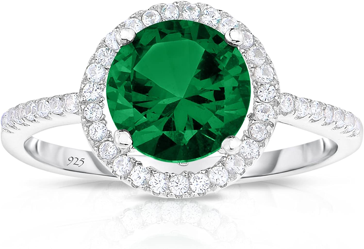 Unique Royal Jewelry Sterling Silver Emerald Wholesale Detroit Mall Green with Created