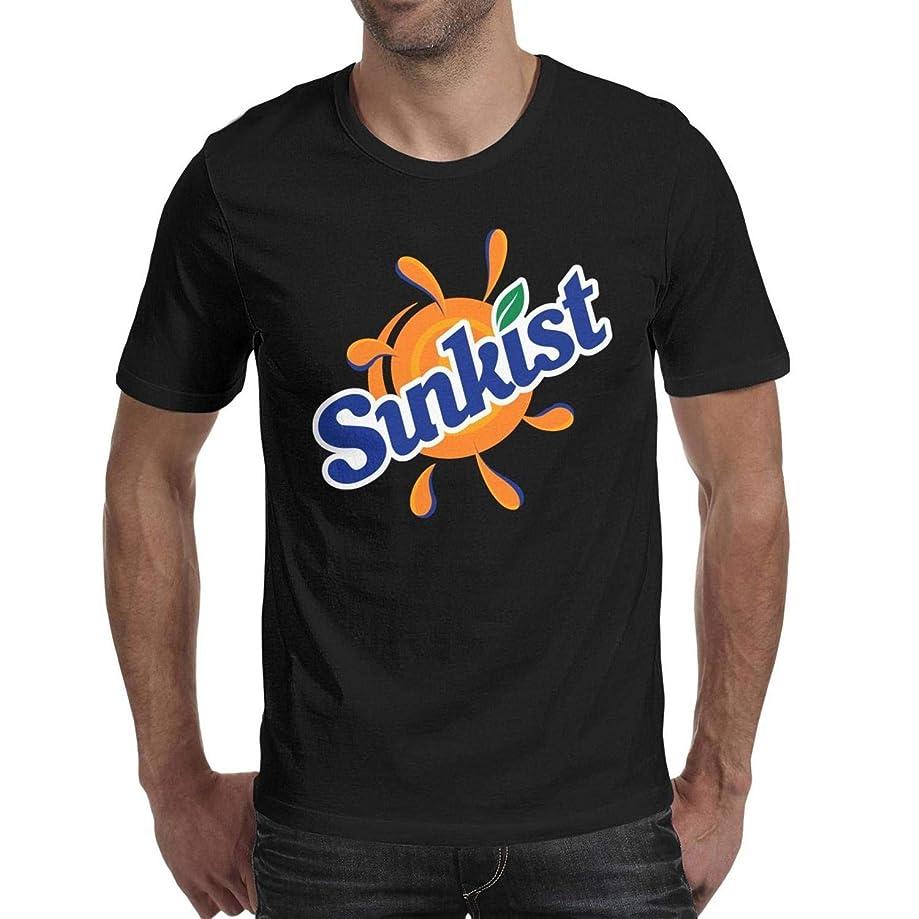 AINIJIAJ Men's Print Novelty Sunkist-Orange-Drink-Logo-Pullover Shirt