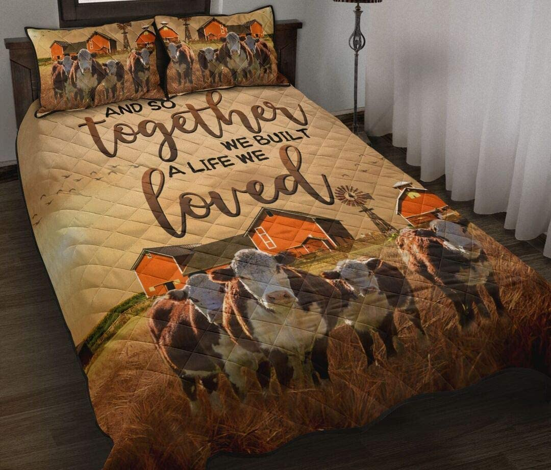 Cows Quilt Popular brand in the world and So Together 100% quality warranty! All Gifts Your Custom S
