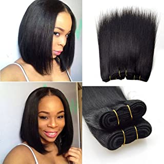Barroko Natural Black 1b# Peruvian Straight Hair 4 Bundles 50g/Pcs 100% Human Hair Sew In Extensions Bob Peruvian Hair Straight Weave