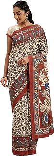 Pure Cotton Indian Handcrafted Kalamkari Print Saree Blouse Formal Woman Occasional Sari 6321 7