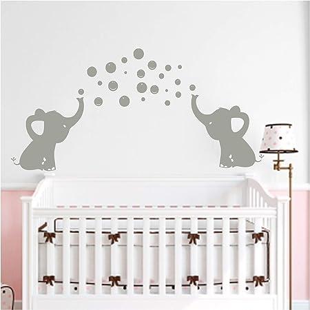 BDECOLL Éléphant Bubbles Sticker mural Nursery Décoration, éléphant Blowing Bubbles, décoration chambre de bébé