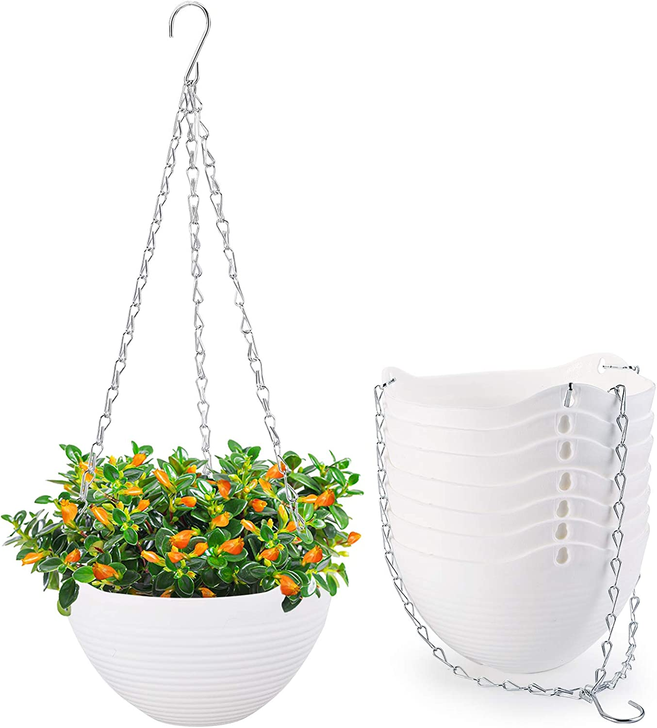 Foraineam 8 Direct stock discount Pack White Hanging Planters Out Indoor Self-Watering outlet
