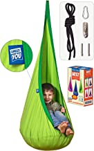 AMAZEYOU Kids Swing Hammock Pod Chair - Child's Rope Hanging Sensory Seat Nest Indoor Outdoor Use Inflatable Pillow - Grea...
