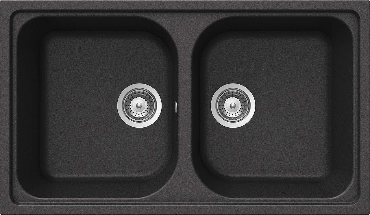 Schock Formhaus N200A51 Cristalite Plus - Fregadero de 1 seno (86 x 50 x 19 cm), color gris