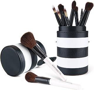 メイクブラシ 化粧ブラシ 携帯用 柔らかいヤギの毛 メイクブラシセット化粧筆 12本 専用収納ケース付き