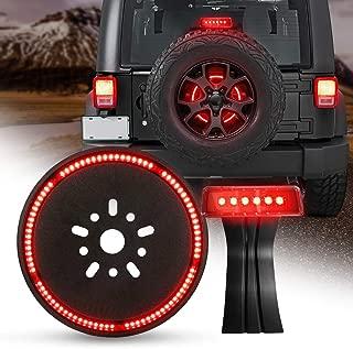 LED 3rd Third Brake Light+Spare Tire Brake Light Wheel Light for Jeep Wrangler JK Brake Tail Light Lamp Rear High Mount Stop Light