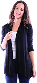 SR Women`s Basic Various Style Sleeve Open Cardigan (Size: Small-5X)