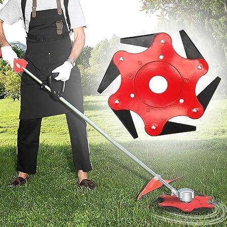 Universal 6 Steel Blade Grass Trimmer Head Lawn Mower Blade Brush Cutter Head