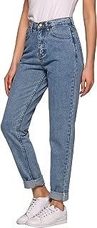 Women's High Waist Mom Jeans,Boyfriend Straight-Leg Denim Pants