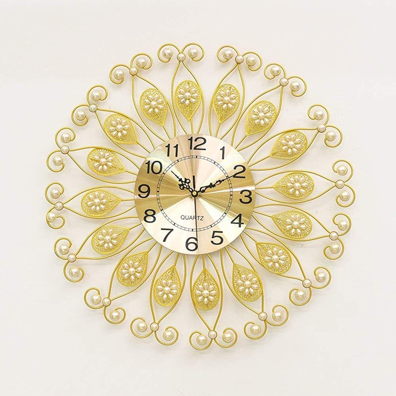 Grte Minimalist Lounge Clocks Clocks [Mode] [Creative] Clock Decorative Clock of The Personality of The Wall Graphics Mutegold 60X22Cm(24X9Cm)
