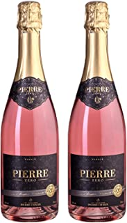 Pierre Chavin Zero Sparkling Rose Non-Alcoholic Sparkling Rose Wine 750ml (2 Bottles)
