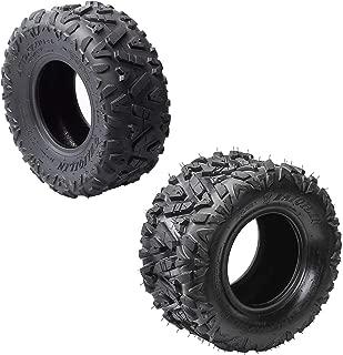 TDPRO 19x7-8'' Front Tires & 18x9.5-8'' Rear Tires Knobby Tubeless for ATV Go Kart Quad Bike
