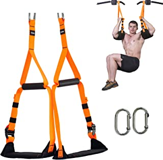 Sponsored Ad - Lifting Ab Straps for Pull Up Bar, Adjustable Sling Strap with Handles and Heavy Duty Carabiner for Abdomin...
