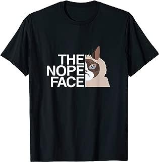 The Nope Face, Cat, Lazy Tee | Logo Parody T-Shirt
