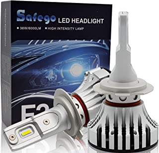 Safego H7 LED Headlight Bulbs Coversion LED kit Cree Chips 12000LM 6500K Cool White Extremly Bright