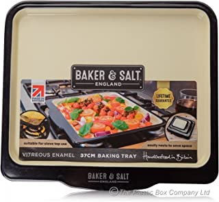 Baker & Salt Heavy Duty Premium Induction Enamel Baking Tray 37cm 14.5""