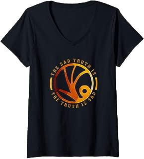 Womens Events Symbol Series of Unfortunate Lemony Snickets VFD V-Neck T-Shirt