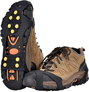 Ice Snow Grips Over Shoe/Boot Traction Cleat Spikes Anti Slip Footwear