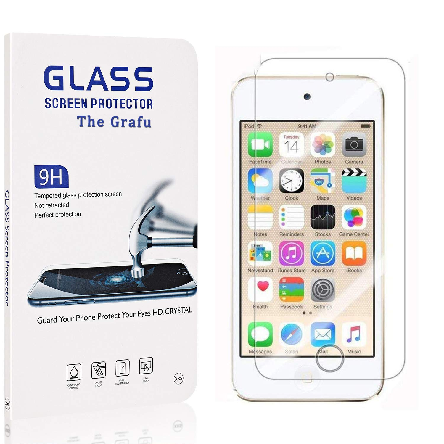 The Grafu Screen Protector Compatible with iPhone 6S // iPhone 6 1 Pack 9H Hardness High Clarity Tempered Glass Screen Protector for iPhone 6S // iPhone 6 Anti Scratch