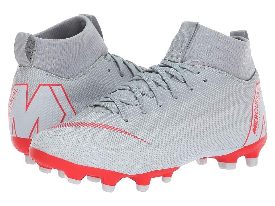 Nike Kids Superfly 6 Academy MG Soccer (Little Kid/Big Kid) (Wolf Grey/Light Crimson/Pure Platinum) Kids Shoes