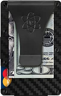 Carbon Fiber Money Clip Wallet for Men - RFID Blocking Minimalist Credit Card Holder Wallet