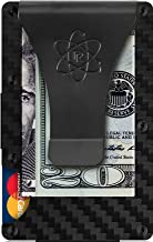 Carbon Fiber Money Clip Wallet for Men - RFID Blocking Minimalist Credit Card Holder - Slim Rigid Front Pocket