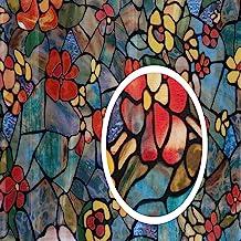"d-c-fix 346-0431-2PKA Self-Adhesive Privacy Glass Window Film, Venetian Garden, 17"" x 78"" Roll, 2-Pack with Applicator"