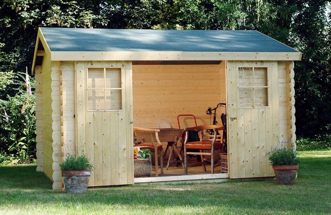 Alpholz DINANT - Caseta de jardín de madera de abeto con tela ...