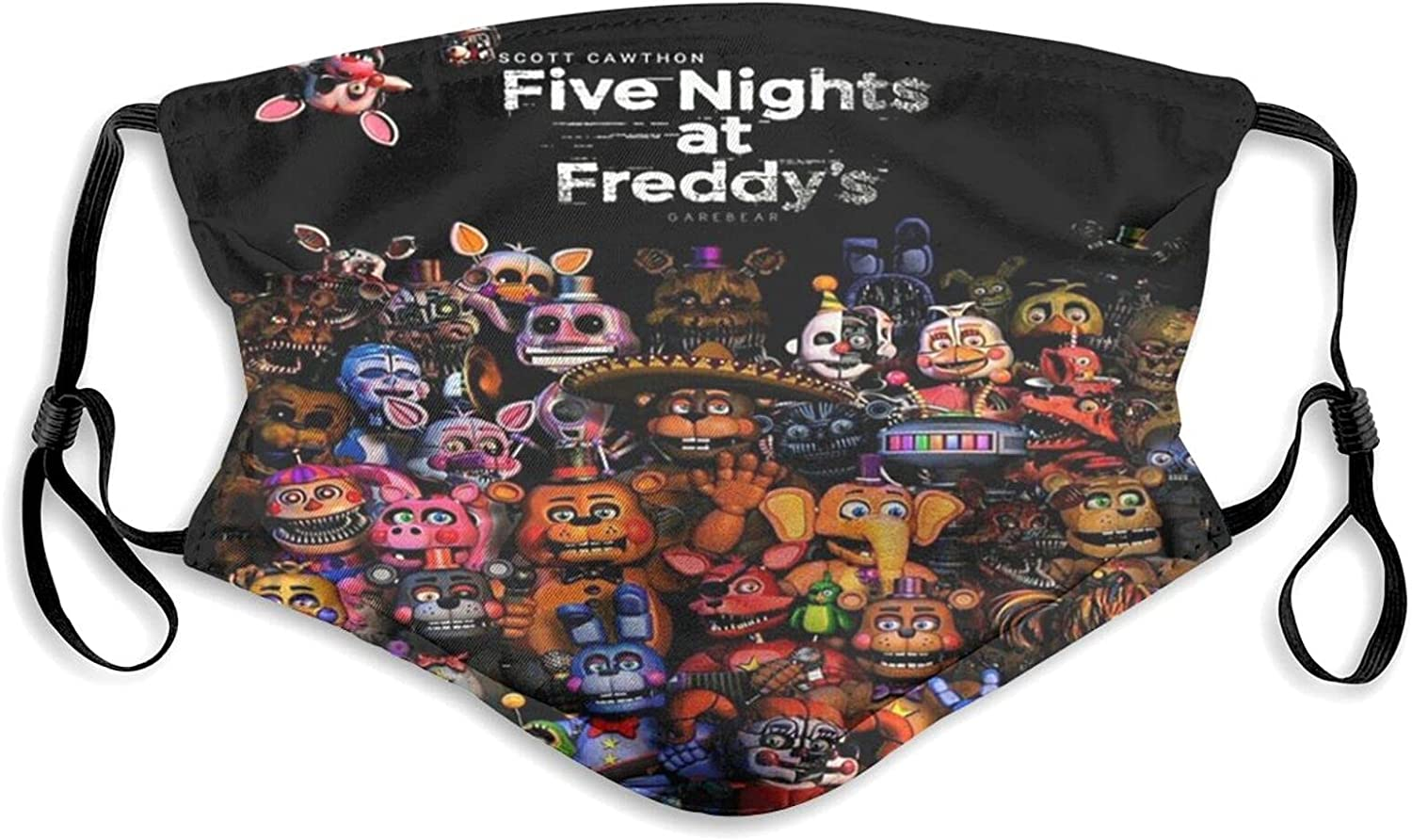 Five Nights at Freddy's Unisex Mask Adult Face Cover Anti-Dust Balaclava for Outdoor Running Cycling with Filter