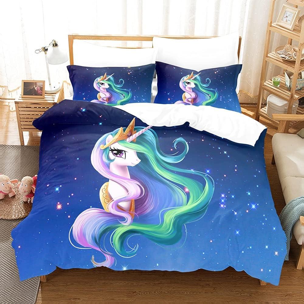 tehui Cute 3D Cartoon Teen-Girl Duvet Free Shipping Super sale period limited Cheap Bargain Gift Unicorn Children Co Animal