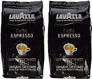 Lavazza Caffe Espresso Whole Bean Coffee Blend, Medium Roast, 2.2-Pound Bag (Pack of 2)