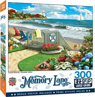 MasterPieces Memory Lane Puzzles Collection - Coastal Getaway 300 Piece EZ Grip Jigsaw Puzzle