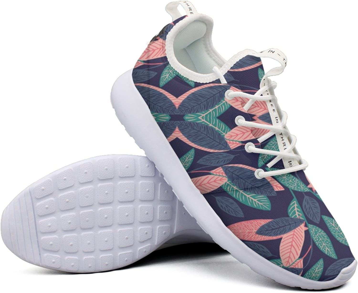 Women colord Leaf colorful Top Unique Sports Running shoes