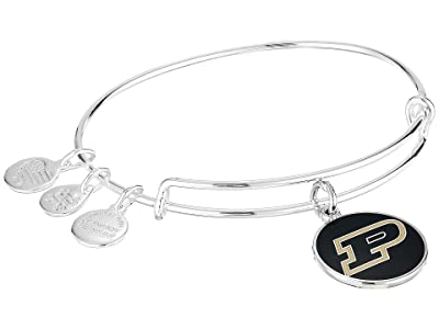 Alex and Ani Color Infusion Purdue University Logo II Bangle (Shiny Silver) Bracelet