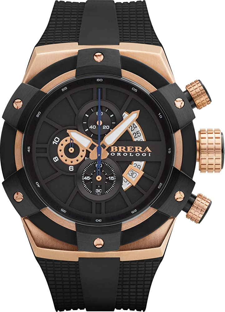 Brera orologi orologio uomo acciaio cassa oro rosa analogico BRSSC4902