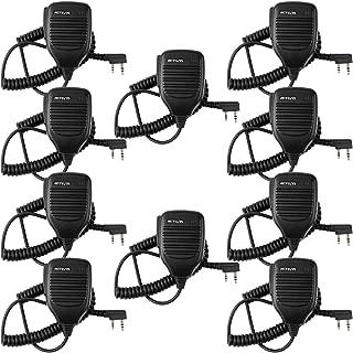 Retevis 2 Pin Speaker Mic Walkie Talkies Micpnone for Baofeng UV-5R BF-888S BF-F8HP Kenwood Retevis H-777 RT21 RT22 RT27 Two Way Radios (10 Packs)