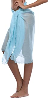 Women Chiffon Beach Pareo Sarong Wrap Dress Bikini Cover Up Swimsuit Wrap