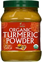 Organic Turmeric Powder 1 Pound Jar by Jiva Organics - 100% Raw with Curcumin