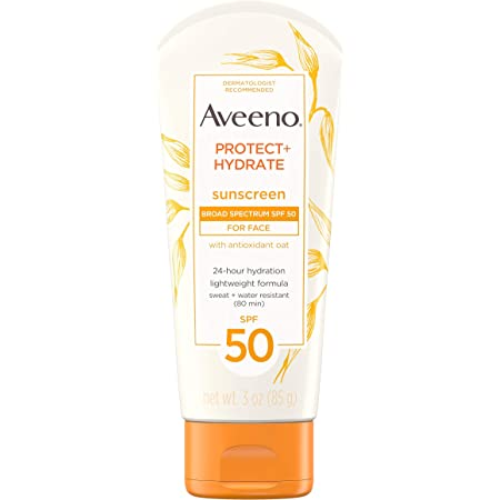Aveeno Protect + Hydrate Face Moisturizing Facial Sunscreen Lotion, Broad Spectrum SPF 50, 3 Oz: Amazon.in: Beauty