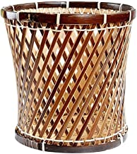 Trash can Trash Can The Basket Lady Large Wicker Waste Basket with Metal Liner, Man Recycling Bin Rubbish Trash Hotel Livi...