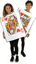 King and Queen Playing Cards Costumes - One-Size Halloween Costumes for Couples Black
