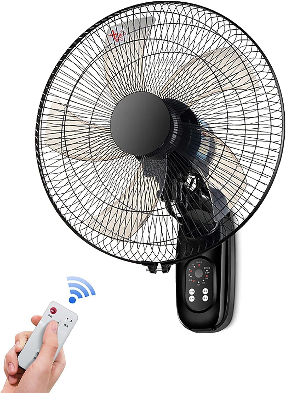 DBGA 19,6 In Ventilador de Pared Silencioso con 5 Aspas, 3 Velocidades, Oscilante & Inclinación Ajustable, Temporizador de 4 Horas Ventilador Oscilante (Cable de Alimentación Normal/Extendido)