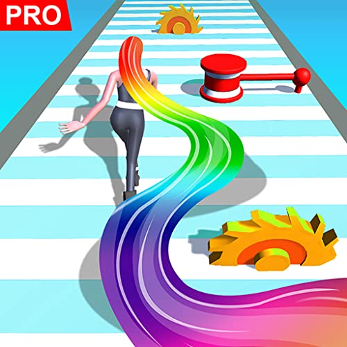 『Hair Runner Challenge game 3d to make your hair long by collecting all hairs in this original girls hair games 2021 fat with fit giant body hair saloon race fun rush to enjoy hairs makeover run pro』の1枚目の画像