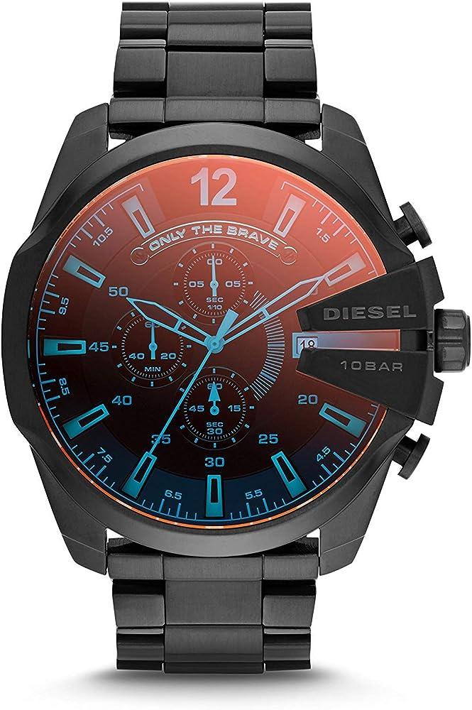Diesel orologio  cronografo da uomo in acciao con quadrante doppia colorazione DZ4318