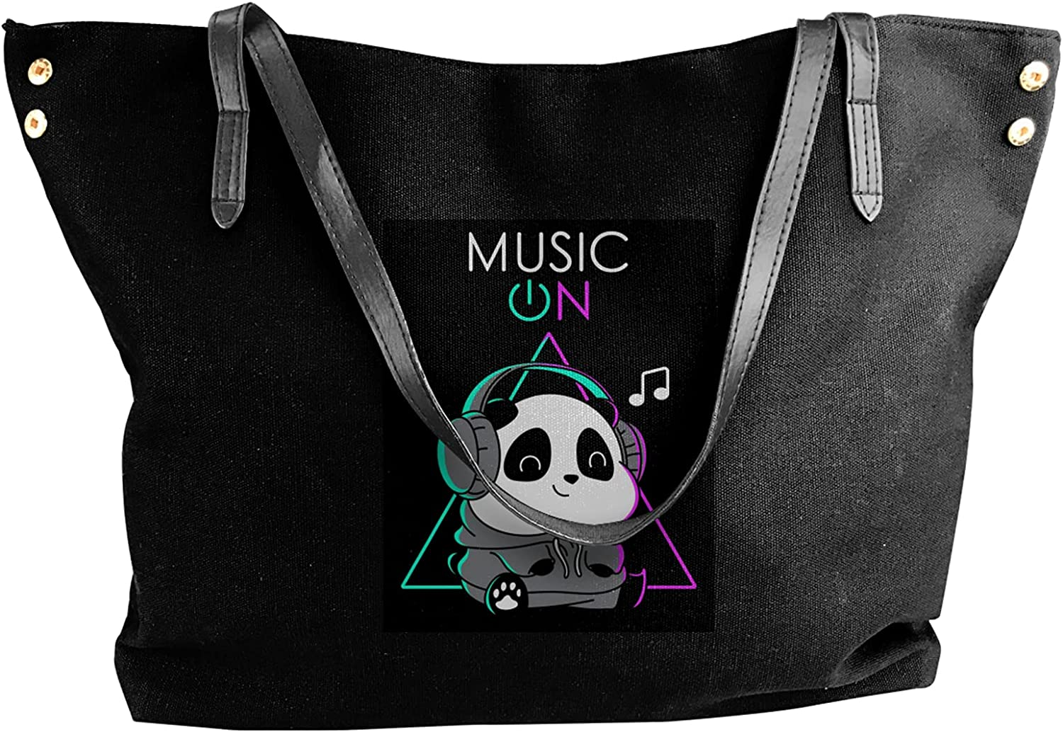 Canvas Opening large release sale Shoulder Bags Funny San Francisco Mall Panda Purse Casual Tote Bag