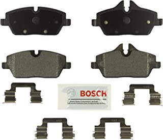 Bosch BE1308H Blue Disc Brake Pad Set with Hardware for Select BMW 118i, 120i, and MINI Cooper Vehicles - FRONT